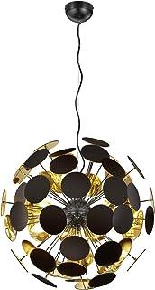 Trio Leuchten Suspension Discalgo 309900632 - Métal et plastique - Noir mat/doré - Excl. 6 ampoules E14