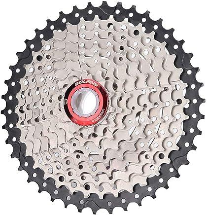 DishyKooker - Piñón para Bicicleta de montaña MTB 8S/9S 25 28 32 40 42T MTB 8 9 velocidades para Shimano Sram (Negro + Plata 9 velocidades 42T)
