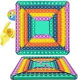 RBSFL Pōp It Gigante Fidget Toys, Giochi da Tavolo Antistress Game Among Us Estrusione Piazza...