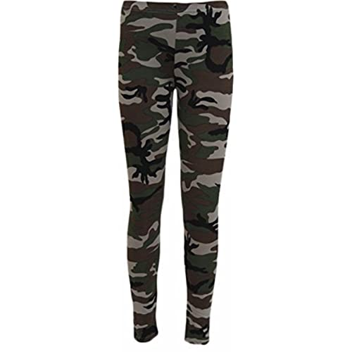 8889de30baa0a New Womens Leggings Ladies Elasticated Waist Army Military Camouflage Print  Leggings Plus Size 8-22