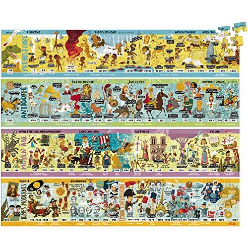 Vilac Grande Frise historique Puzzle 4 x 100 pcs