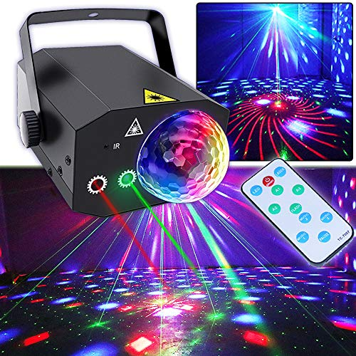 party lights Party Lights, Disco Ball Lights TONGK Dj Disco Lights, LED Stage Light Projector Strobe Lights Sound Activated with Remote Control for Xmas Club Bar Parties Holiday Dance Christmas Birthday Wedding