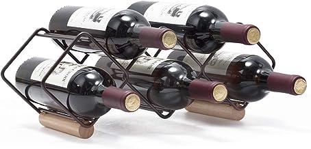 Kingrack Wine Rack Stackable, Horizontal Wine Bottles Holder Racks, Metal Copper Wine Holder Storage Free Standing, Tablet...