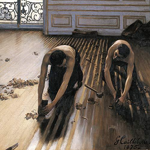 1art1 Gustave Caillebotte - Die Parkettschleifer, 1875 Poster Kunstdruck 100 x 100 cm