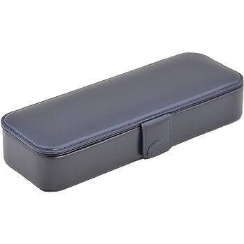 COBU新本革製マグネット筆箱  C14(ペン差し取外し可能 消しゴム仕切り有)(紺)