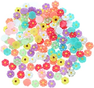 SUPVOX 200pcs Nail Art Decals Daisy Flower Shape DIY Nails Decoration Tips Charms Accessories for Women Girls13mm