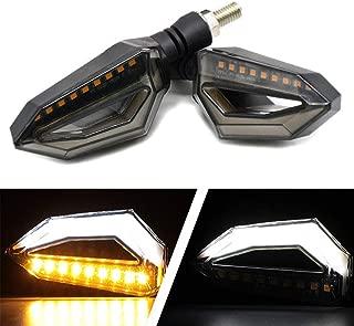Usee LED Motorcycle Turn Signal Light Amber Daytime Running Light Indicators Blinkers White Universal DC 12V 2Pcs