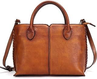 satchel handbag leather