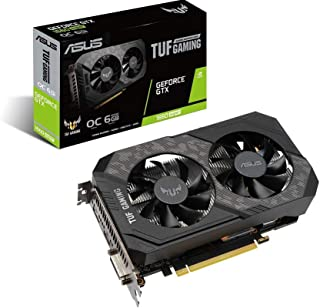 Asus TUF Gaming GeForce GTX 1660 Super Overclocked 6GB Edition HDMI DP DVI Gaming Graphics Card (TUF-GTX1660S-O6G-GAMING)
