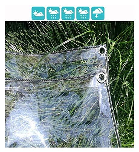 ZHANGQINGXIU Lonas Impermeables Exterior,Lona De Vidrio Transparente Lonas Para Carpas Ojales Reforzados Balcón Exterior Protección De Plantas Resistente A La Lluvia Anti-UV Anticongelante Espesor, 0.