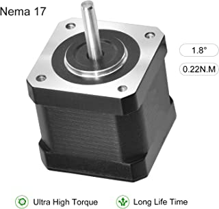 RTELLIGENT Nema 17 Stepper Motor, Bipolar Step Motor 1.2A 0.22Nm/31.2oz-in 4240mm 1.8 Deg for 3D Printer Extruder CNC Router