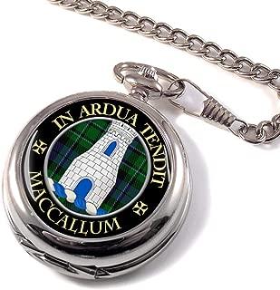 MacCallum Scottish Clan Crest Full Hunter Pocket Watch