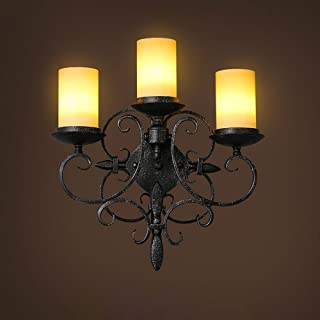 MX Light Fixture American Country Vintage Candle Bedside Lamp European-Style Living Room/Bedroom/Hotel/Bar/Villa/Backgroun...