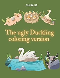The ugly Duckling coloring version: large print