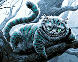Paint by Numbers Canvas Kits for Adults Beginner Kids, DIY Acrylic Number Painting - Scary Animal Cat Wall Art Digital Oil...