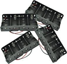 pkcell 4-Slot D Size Battery Holder Contain Two Wires (4pc)