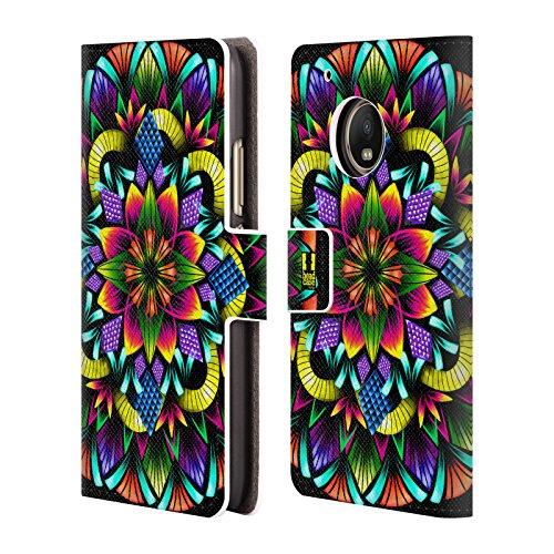 Head Case Designs Blumen Laternen Mandala Leder Brieftaschen Handyhülle Hülle Huelle kompatibel mit Motorola Moto G5 Plus