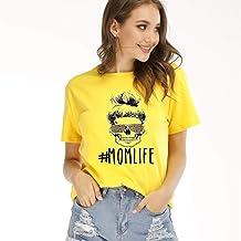 fpengfashion Vrouwen Moeder Leven T-Shirt Luipaard...