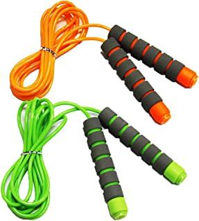 Adjustable Soft Skipping Rope with Skin-Friendly Foam Handles for Kids, Children, Students and Adults - Orange & Green-Adjustable Soft Skipping Rope with Skin-Friendly Foam Handles for Kids, Children