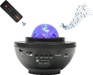 スタープロジェクターライト ベッドサイドランプ 「最新版&リモコン式」 2in1投影効果 21種点灯モード Bluetooth スピーカー Bluetooth5.0/USBメモリに対応 タイマー機能 音声制御 輝度/音量調整可 ロマンチック雰囲...