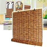 SJMFGF Persianas ciegas de Rodillo de Cortina de bambú, Ventana de bambú Interior al Aire Libre Enrollable, ventanilla de persianas de privacidad, Ventana de lumbrera, pórtico de jardín, sombrilla al