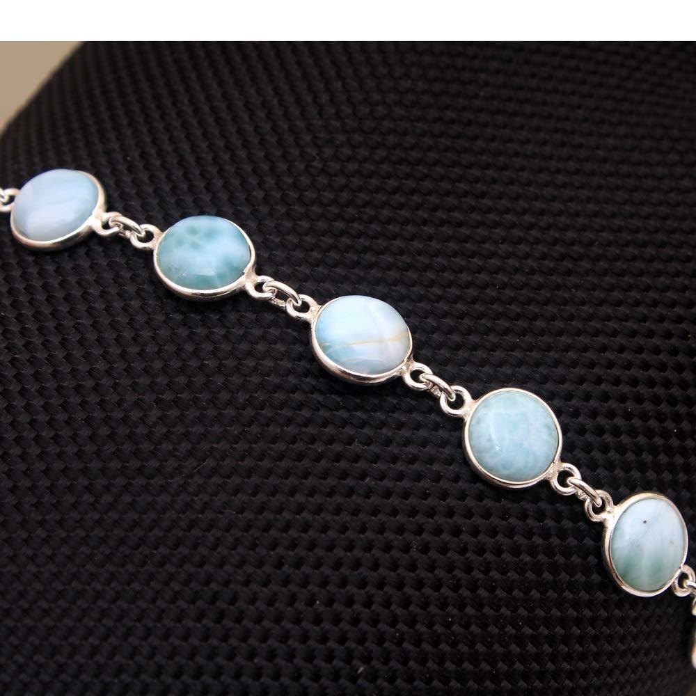 Christmas Special Natural Credence Larimar Gifts Bracelet Handmade 925 Gemstone