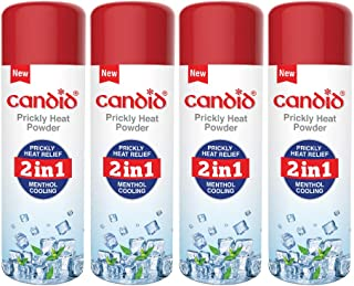 Candid Prickly Heat Powder 120g (Pack of 4), white