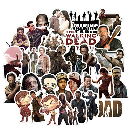 ZFHH 50pcs/Pack The Walking Dead Classic TV Show Stickers For Notebook Motorcycle Skateboard Computer Mobile Phone DIY Box
