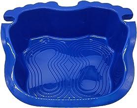Limpiapiés Antideslizante para Piscina, Lavapies De Piscina, Bandeja De Baño De Pies para Piscina, para Lavarse Los Pies Antes De Meterse En La Piscina, Plástico 43.5x39.5x9.5cm