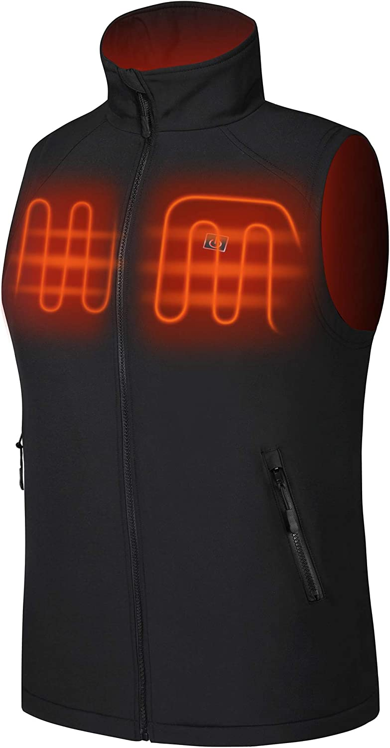 Dyefei Heated Vest for Men Heating Jacket Outdoor Clothes USB Charging Electric Heating Vests(Battery Pack not Included)
