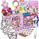 JoJo Siwa Gifts Set - Fashionable Art & Activity Craft Kit, Collectible Tin Box, Jojo Coloring Book, Hair Scrunchies, Jojo Stickers, & More - Arts and Craft Kits for Kids 3, 4, 5, 6, 7, 8