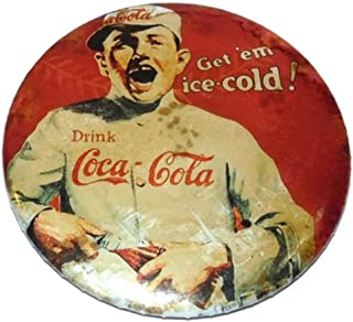 Vintage 1991 Drink Coca-Cola Baseball Themed Advertising Pocket Mirror