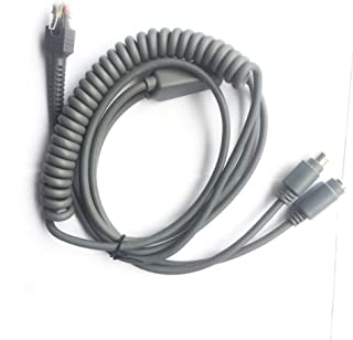 LS2208 PS/2 Cable, for Barcode Scanner Ls2208ap Ls1203 Ls4208 Ls4278 Ds6707 Ds6708-3mtr Spiral,5pc