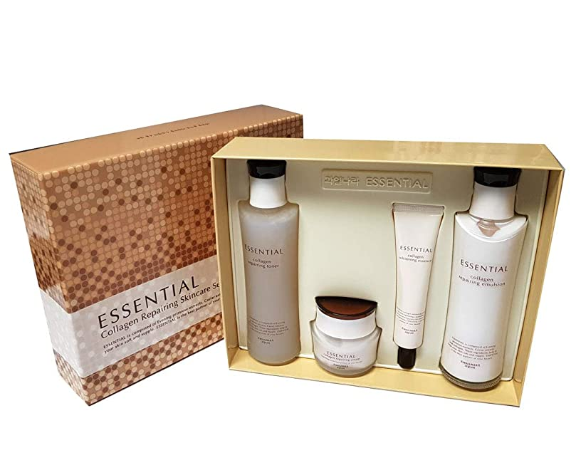 姪忠実前にエッセンシャルコラーゲン修復スキンケア4アイテムセット / Essential Collagen Repairing Skin Care 4 Item Set/水分、栄養/moisture,nutrition/韓国化粧品/Korean Cosmetics [並行輸入品]