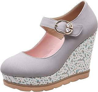 JOJONUNU Women Wedge Heel Pumps