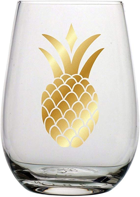 Pineapple Stemless Wine Glass F146561 Slant Collections
