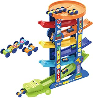 yeesport Race Car Track Set Creative Car Ramp Toy Interactive Toy Educational Toy for Kids