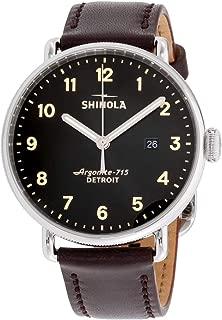 Shinola Detroit Men's The Canfield 43mm - 20001939 Black/Oxblood