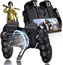 EMISH Mobile Game Controller Gamepad Mobile Gaming Trigger Joystick Metal L1 R1 Button for PUBG/Rules of Survival (Black)