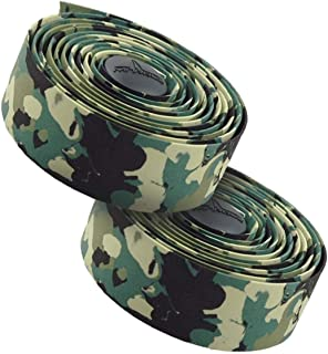 MARQUE Suede Bike Handlebar Tape - Road Cycling Bicycle Handle Bar Wrap in Black or Camo 2PCS per Set