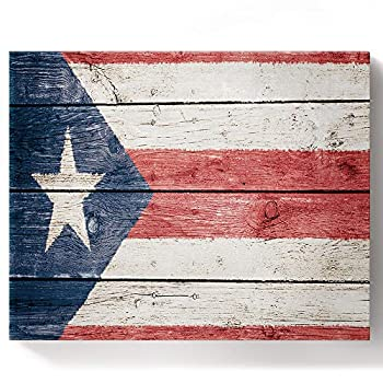 BABE MAPS Adults Paint by Numbers Kit 12x16 Inch DIY Acrylic Painting Arts Craft on Framed & Stretched Canvas Puerto Rican Flag