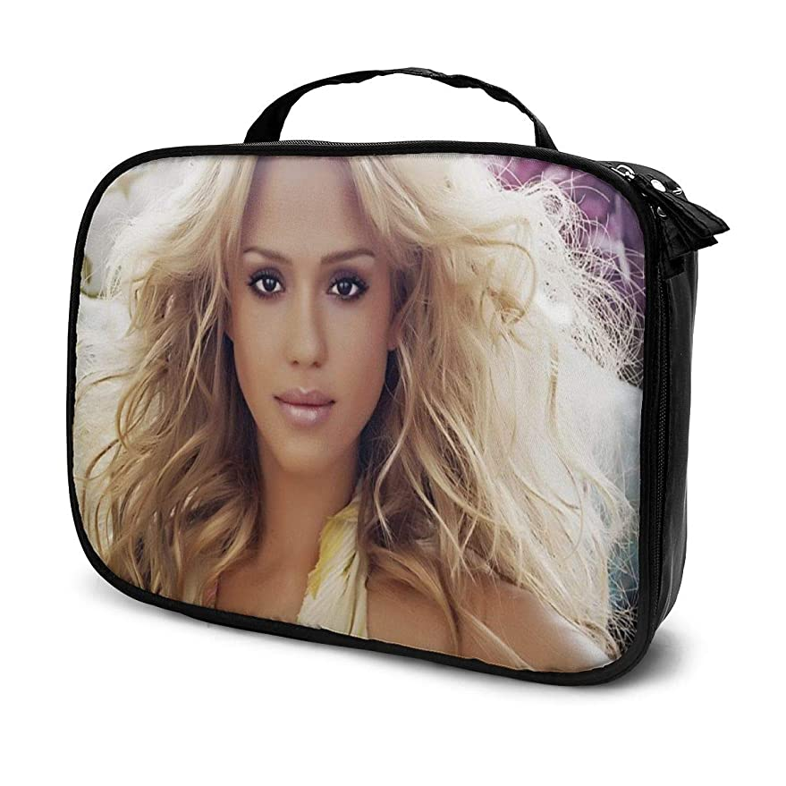 俳優未亡人買い物に行く化粧ポーチ Jessica Alba 女性化粧品バッグ ビューティー メイク道具 フェイスケアツール 化粧ポーチメイクボックス ホーム、旅行、ショッピング、ショッピング