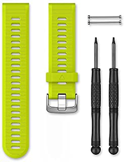 Garmin - Bracelet de Rechange pour Montres Forerunner 935 - 22mm - Silicone - Jaune