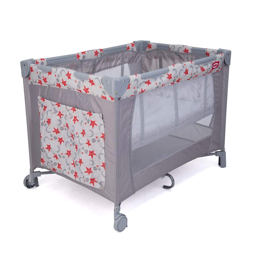 - Nuluv Baby Playpen Playard/Folding Baby Bed Cum Cot/Convertible