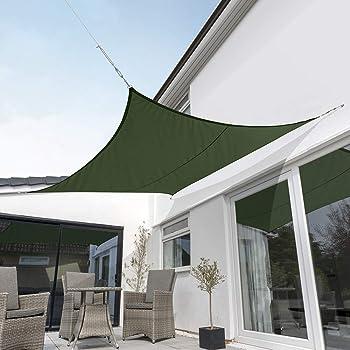 Kookaburra Tenda a Vela Giallo Impermeabile Protezione Anti Raggi 98/% UV per Ombreggiare Il Giardino Terrazzo o Balcone Quadrata 3,0m