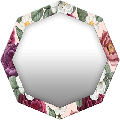 999Store Printed Colorful Flowers Octagon Mirror(MDF_17X17 Inch_Multi)
