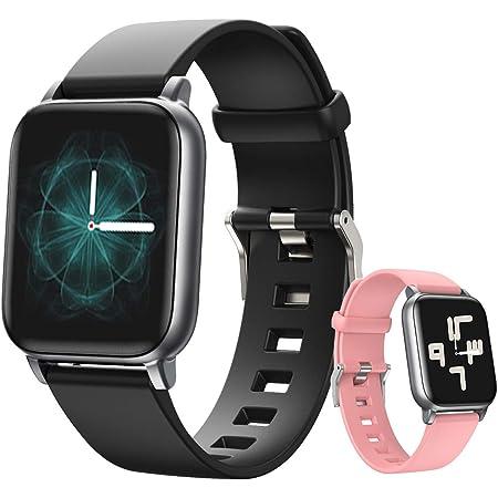 Reloj inteligente Deportivo, Smartwatch para Hombre Mujer, Pulsera Deportiva Bluetooth para Android y iOS Móvil, Con Monitor de Sueño, Recordatorio de Información y Llamadas Contador de Pasos A Prueba de Agua