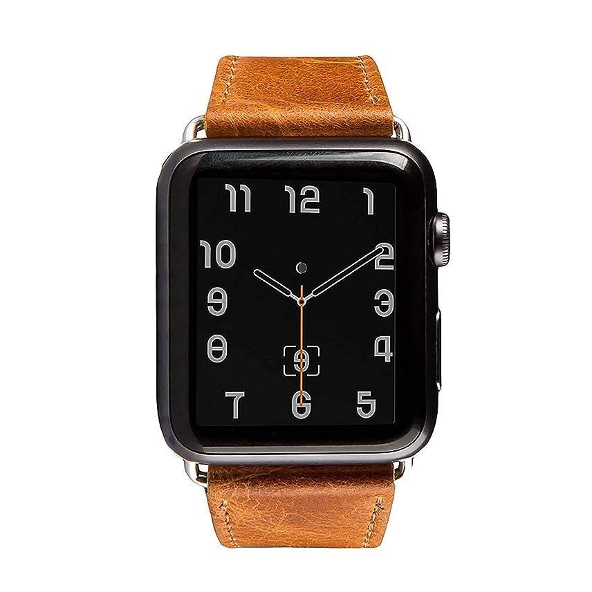 権限を与える受信機レンズアップル ウォッチ バンドHOUSON for apple watch ストラップ 時計バンド ベルト 高級 牛革 替えベルト 本革バンド おしゃれ レザー 腕時計交換バンド高耐久性アップルウォッチ専用バンドapple watch series 3/2/1 バンド 42mm用 交換用ラグ付属 (ブラウン)