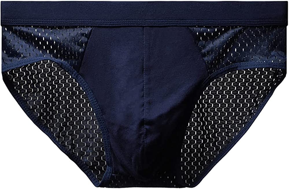 Men's Briefs Large Size Ice Silk Breathable Mesh Briefs Head Pack of 4