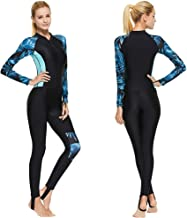Full Body Scuba Rash Guard Dive Skin UV Swimwear Sport Skins for Men Women, Long Sleeve One Piece Front Zipper Diving Wets...